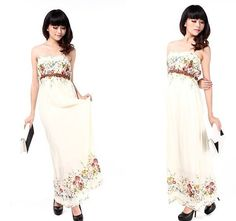 Vintage Cotton Dress Strapless Bridesmaid Dress Ivory by laceyouup, $43.00