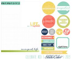 free printable from Geralyn Sy for Studio Calico for National Scrapbooking Day