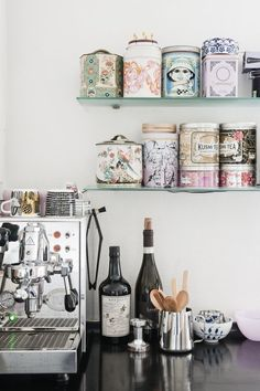 In love with home decoration....assort. deco tins