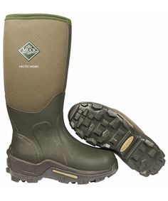 The Muck Boot Arctic Sport is a seriously warm wellington boot. With 8mm of neoprene it has the thickest neoprene of all our wellies and even has a fleece lining for added comfort. A stretch-fit binding keeps the cold air out and warm air in while a 2mm thermal foam underlay keeps the soles of your feet warm. For extra cold and muddy days the out-sole is rugged and the toe reinforced. The instep, heel and Achilles areas are doubly reinforced.      100% Waterproof     Stretch fit top-line…