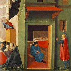 Story of St Nicholas - Giving Dowry to Three Poor Girls,  by Fra Angelico (1395-1455), 1437, Pinacoteca Vaticana, Città del Vaticano