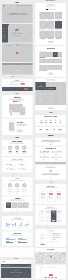 Take a look at some website wireframes. Do you see anything you like?