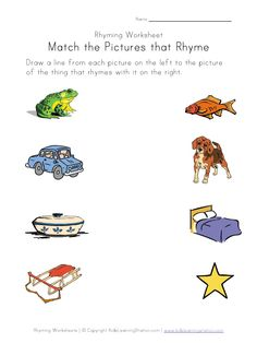 Rhyming Words Worksheets - - Re-pinned by @PediaStaff – Please Visit http://ht.ly/63sNt for all our pediatric therapy pins