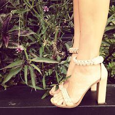 CHLOE braided ankle strap sandal