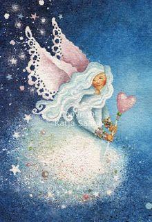 Katja Saario Butterfly Art, Butterflies, Star Art, Angel Art, Fairy Art, Sunny Days, Vintage Christmas, Cinderella, Disney Characters