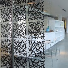 These modular partitions from German brand Koziolare a new obsession of mine. Semi-transparent and light, they create beautiful and subtle dividers in a room of any size. The installation of the p...