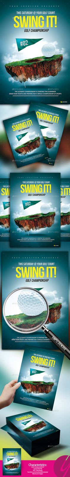 Swing It Championship by YczCreative Swing It – Golf Championship – Flyer The best flyer for your next championship event Special designed for your sport ocasion Char