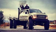 """This Super Six Patriot Ford Monster Truck is the ultimate off-road vehicle. Dave """"Heavy D"""" Sparks who was featured on """"Diesel Brothers"""" show is the Big Ford Trucks, Diesel Trucks, Cool Trucks, Lowered Trucks, Lifted Trucks, Pickup Trucks, 6x6 Truck, Jeep Truck, Ford Motor Company"""