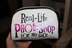 Haha great idea for makeup bag.