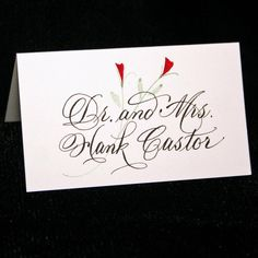 Place Card Calligraphy for your Wedding or by ArtfulCelebrations, $1.25
