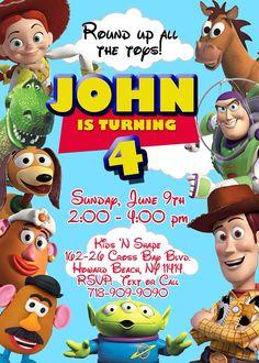 CUSTOM PHOTO Invitations Toy Story Birthday by Asapinvites on Etsy