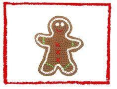 Lebkuchenmann von SaVö-Design Häkelapplikationen auf DaWanda.com crochet gingerbread