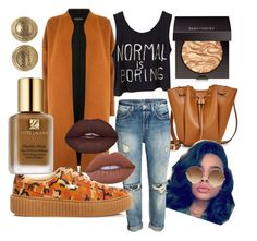 """Camel n Creepers"" by honeyguwop on Polyvore featuring Warehouse, Puma, Lime Crime, Laura Mercier, Estée Lauder, Victoria Beckham and Chanel"