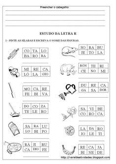 atividades sibalicas com a letra R