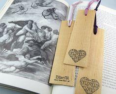Bookmark Wood Bookmark Wedding Favor Bridal Shower by texturemix, $6.50