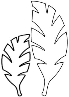 Leaf template on pinterest flower template butterfly for Jungle leaf templates to cut out