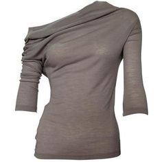 Merino wool soft cowl neck tee - Skin and Threads