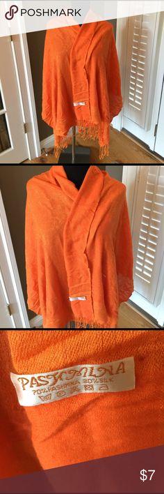 GORGEOUS JACQUARD ORANGE CASHMERE? Silk pashmina Great pashmina Accessories Scarves & Wraps