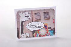 """Postkarte """"Roar!"""" aus Recyclingpapier von Frau Schnobel Grafik auf DaWanda.com"""