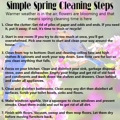 Simple spring cleaning steps to make your home sparkle