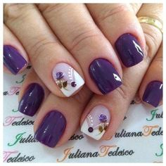 35 best summer nail art designs you must try 00072 Spring Nail Art, Spring Nails, Summer Nails, Nail Art Designs, Purple Nail Designs, Fall Pedicure Designs, Gel Nagel Design, Nagellack Trends, Nagel Gel