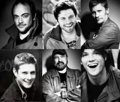 Mark Sheppard, Misha Collins, Mark Pellegrino, Jensen Ackles, Jim Beaver, Jared Padalecki #supernatural and they say our cast doesn't have any attractive people