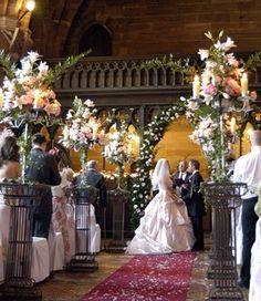 Decorating A Fall Church Wedding   Unique Fall Wedding
