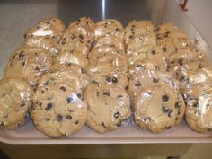 BEST EVER CHOCOLATE CHIP COOKIES MADE IN CAMP BY ROBERT CARBERRY BAKER/CHEF 780 507 0266