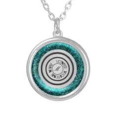 New in store now - LICENSED #VOCATIONAL NURSE #Stethoscope #Necklace - Round decorative stethoscope necklace, GLITTERED TEAL, this product reads: LICENSED VOCATIONAL #NURSE, you may remove these words if you choose. The center holds an initial that can be edited with the letter and font of your choice. Please seem my store gallery for more stethoscope products like this one. #zazzle #necklace #nursinggifts