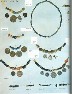 Viking age / Finnish / Luistari Ancient Vikings, Norse Vikings, Viking Jewelry, Ancient Jewelry, Stone Beads, Glass Beads, Norse People, Norwegian Vikings, Viking Garb