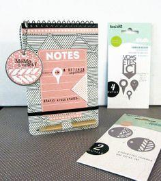 Les dies MetaliKs utilisés par Isabelle pour personnaliser son carnet-roadbook.