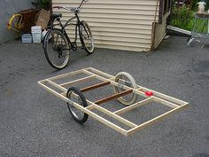 DIY bike trailer  ~I really think I'm going to try this!