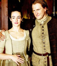 Jenny and Ian Murray costumes | Outlander S1B on Starz | Costume Designer TERRY DRESBRACH