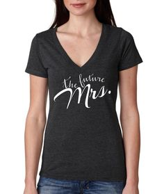 The Future Mrs. V-Neck, Birthday shirt, Mom Shirt, Vintage Age,,Birthday T-Shirt Idea, rad shirts, instagram fashion funny tops,