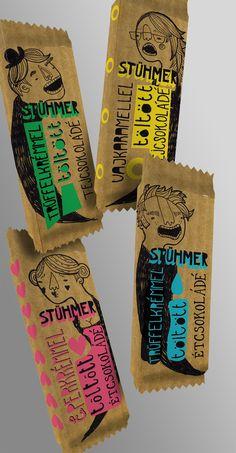 Package design for Stühmer chocolate by Lilla Bölecz, via Behance