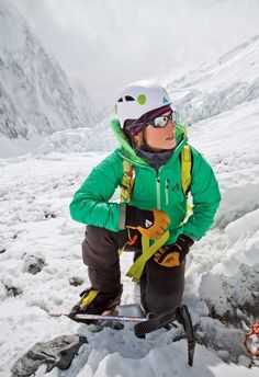 Melissa Arnot, climbing the summit of Mt. Everest, Spring 2013. Sponsored by Eddie Bauer & First Ascent.
