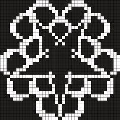 Black Veil Brides Logo Perler Bead Pattern / Bead Sprite