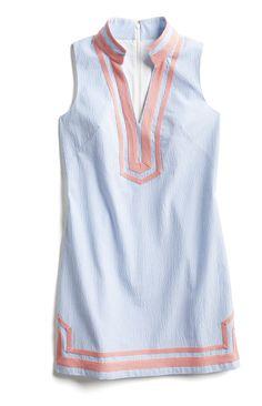 Stitch Fix Spring Stylist Picks: Blue seersucker shift dress