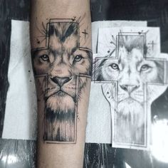 "151 Likes, 10 Comments - ⚜ Roger Tattoo Studio. (@tacioroger) on Instagram: ""Tattoo Cruz/leão #leao #lion #tatt #tatto #tattoo #tattooing #tattoos #tattoer #leaotattoo #ink…"""
