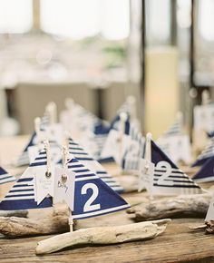 Driftwood Sailboat Escort Cards from Stephanie Hunter Photography | blog.theknot.com