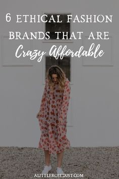 One of the biggest road blocks when it comes to ethical fashion is the price tag. There's no doubt that it's more expensive but that shouldn't stop you from shopping sustainably. Here are 6 ethical fashion brands that are crazy affordable! #ethicalfashion #sustainablefashion #slowfashion