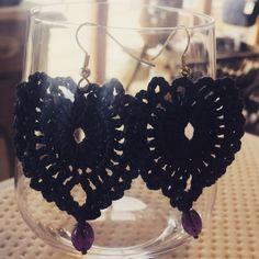 Mal schnell ein Paar Ohrringe gehäkelt... Crochet Earrings, Jewelry, Couple, Ear Piercings, Jewellery Making, Jewels, Jewlery, Jewerly, Jewelery