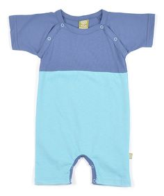 This Teal Color Block Organic Cotton Romper - Infant by Nui Organics is perfect! #zulilyfinds