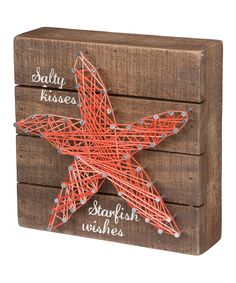 Love this Starfish String Wall Art by Primitives by Kathy on #zulily! #zulilyfinds