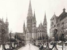 Vorher: Max Missmann fotografiert Tauentzien und Gedächniskirche 1905
