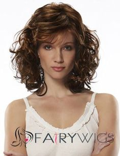Unique Honorable Medium Jon Renau Bright Brown Wavy Venation Hairstyle Capless Human Hair Top Quality Popular Wig About 16 Inches Short Curly Wigs, Short Wavy, Medium Hair Styles, Curly Hair Styles, Natural Hair Styles, Hair Medium, Jon Renau, Wigs Online, Wigs For Black Women