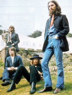 The last public photo shoot of the Beatles, taken in August of 1969.