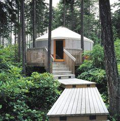 {yurts by rainier}  i love the setting, but would like windows........