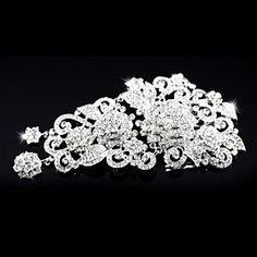 FLOW ZIG Gorgeous Austria Rhinestones Wedding Bridal Combs -- You can find more details by visiting the image link.-It is an affiliate link to Amazon. #BroochesPins