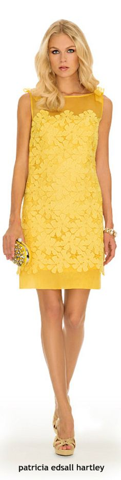 Luisa Spagnoli yellow cocktail dress.